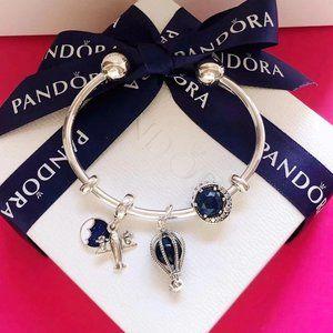 PANDORA Moon Beaded Cat Eye Bracelet